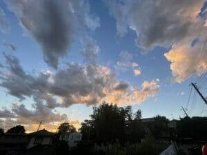 Recent evening clouds above Saitama City